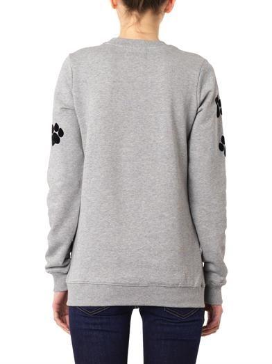 Markus Lupfer Flocked paw-print sweatshirt