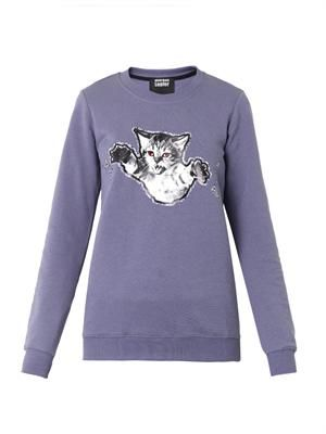 Claws-out-cat print sweatshirt
