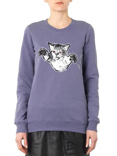Markus Lupfer Claws-out-cat print sweatshirt