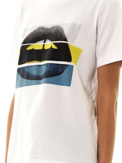 Markus Lupfer Colour-block lips T-shirt