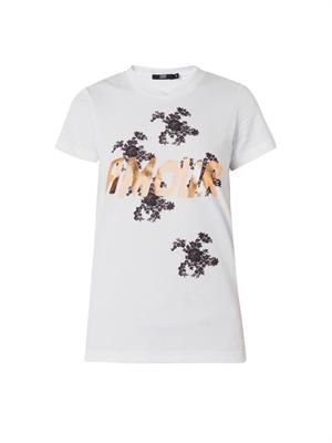 Kate Amour foil-print T-shirt