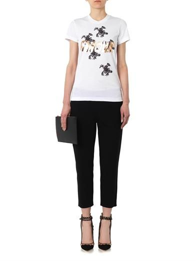 Markus Lupfer Kate Amour foil-print T-shirt