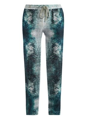 Tropical fish-print trousers