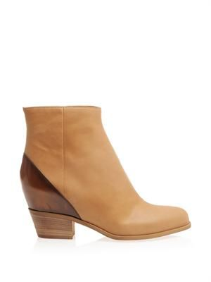 Hidden-wedge ankle boots