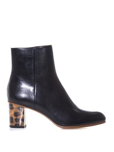 Maison Martin Margiela Mm6 Holographic leopard-heel ankle boot
