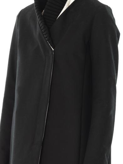 Maison Martin Margiela Mm6 Ribbed-collar cotton coat