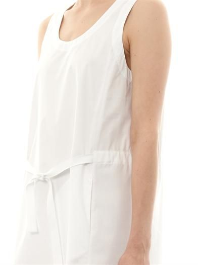 Maison Martin Margiela Mm6 Drawstring cotton dress