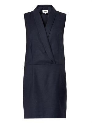 Tux-style wrap dress