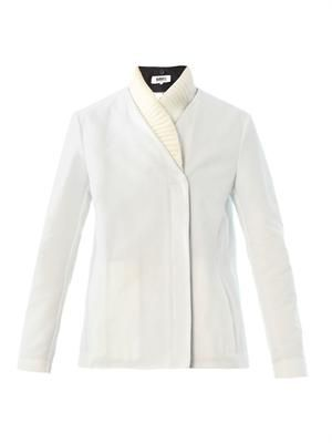 Detachable collar cotton jacket