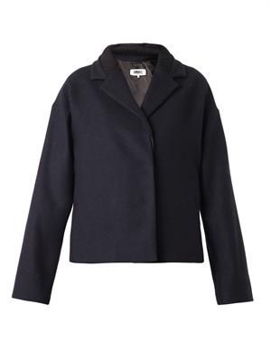 Singled-breasted wool jacket