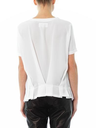 Maison Martin Margiela Mm6 Gathered-back blouse
