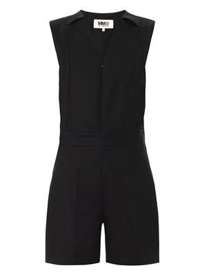 Sleeveless cotton playsuit
