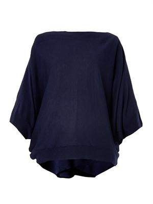 Dolman-sleeve wool-blend sweater