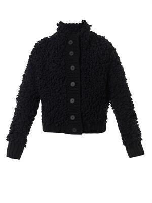 Textured-knit cardigan