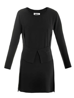 Long sleeve tuxedo dress