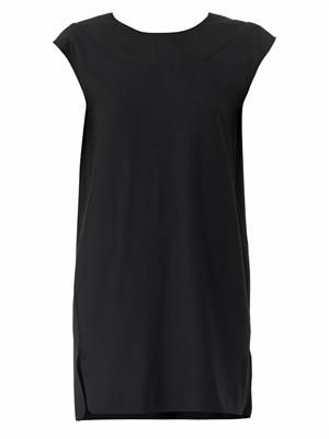 V-back wool-blend shift dress