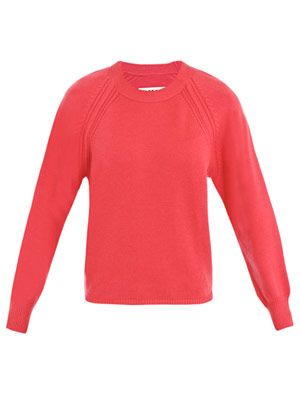 Raglan crew-neck sweater