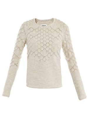 Fish scale knit sweater
