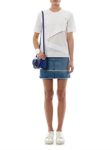 Maison Martin Margiela Mm6 Frayed-edge denim skirt