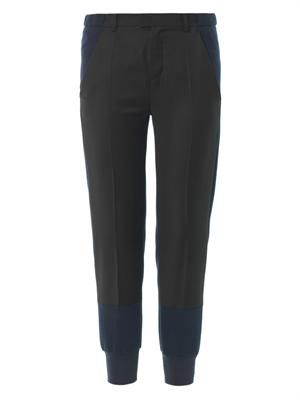 Contrast-panel jogging bottoms