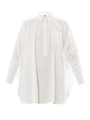 Oversized cotton-twill shirt
