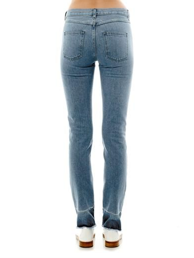 Maison Martin Margiela Mm6 Frayed-hem high-rise straight-leg jeans