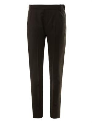 Tuxedo tailored wool-crepe trousers