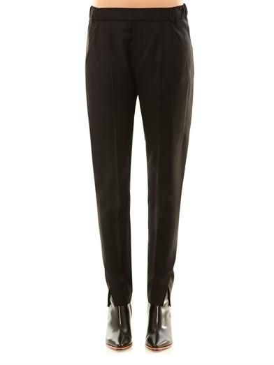 Maison Martin Margiela Mm6 Tuxedo tailored wool-crepe trousers