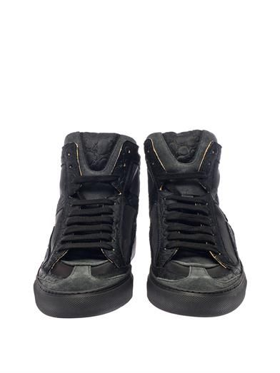 Maison Martin Margiela Mm6 Suede and mesh high-top trainers
