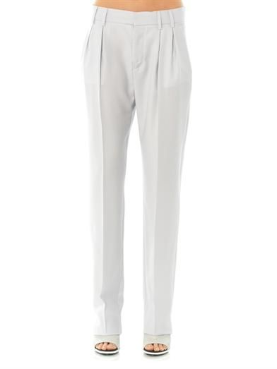 Maison Martin Margiela Mm6 Wide-leg wool-crepe trousers