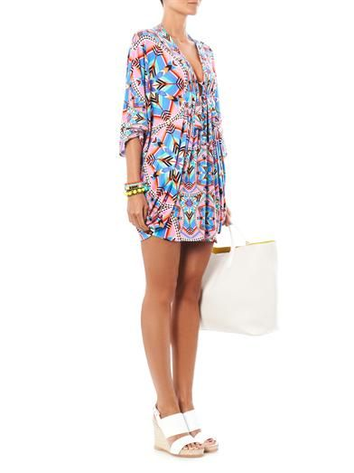 Mara Hoffman Kites-print poncho dress