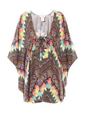 Divine-print poncho dress