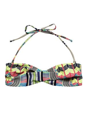 Electric casino-print bikini top