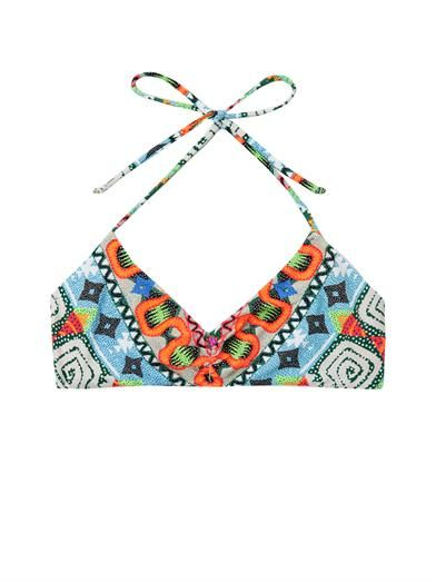 Mara Hoffman Astrodreamer-print bikini top