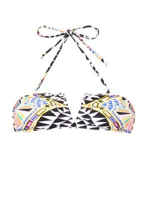Cosmic Fountain-print bikini top
