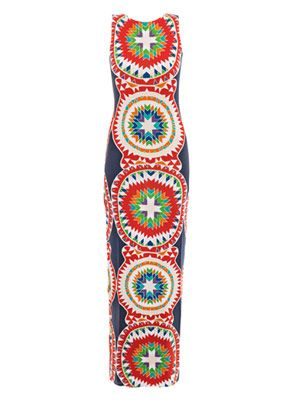 Pow Wow print maxi dress