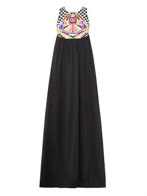 Cosmic Fountain embroidered maxi dress