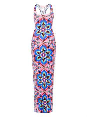 Kites-print racer-back maxi dress