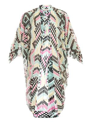 Maya print cocoon cover-up