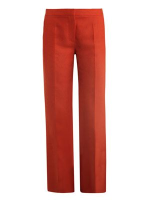 James cropped linen trousers