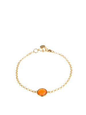 18ct gold plated Carnelian bracelet