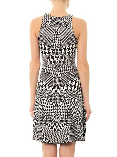 McQ Alexander McQueen Houndstooth knit dress