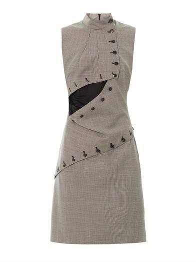 McQ Alexander McQueen Houndstooth sleeveless dress