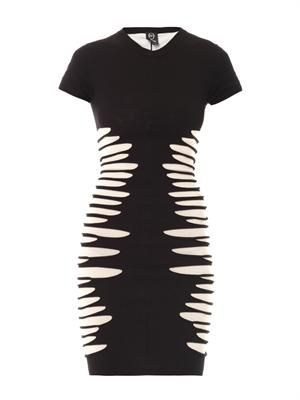 Slashed-side bodycon dress