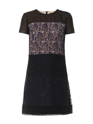 Lace panelled dress