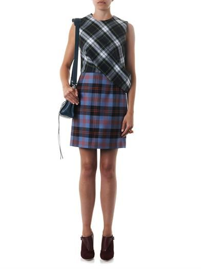 McQ Alexander McQueen Multi-plaid tartan dress