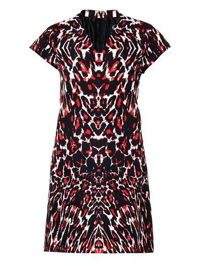 McQ Alexander McQueen Leopard-print faille dress