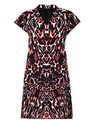 Leopard-print faille dress