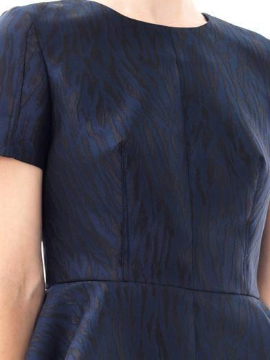 McQ Alexander McQueen Tiger jacquard peplum top
