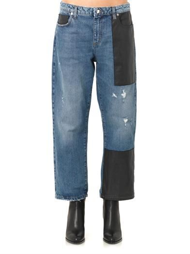 McQ Alexander McQueen Patch low-slung boyfriend jeans